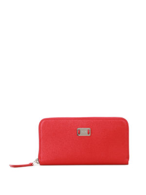 Tod'S: wallets & purses - Red leather continental wallet
