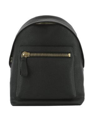 Tom Ford: backpacks - Maxi pocket leather backpack