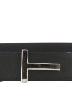Tom Ford: belts online - T buckled black leather belt