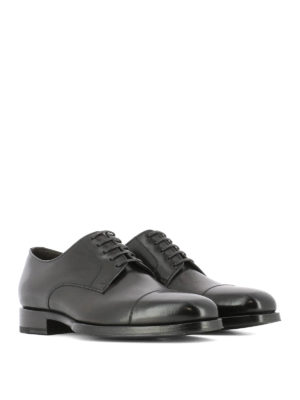 Tom Ford: classic shoes online - Dark brown classic Derby shoes