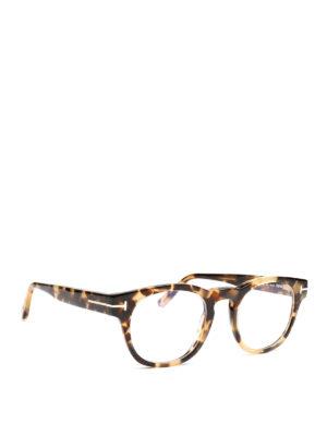 7e2dc2618e TOM FORD  Occhiali - Occhiali da vista avana tondi. New season. Tom Ford.  Havana round frame eyeglasses