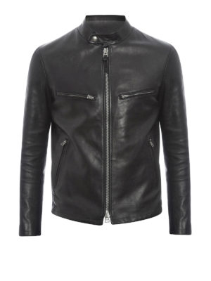 Tom Ford: leather jacket - Multipocket leather jacket