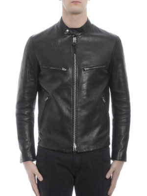 Tom Ford: leather jacket online - Multipocket leather jacket