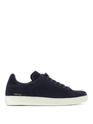 Tom Ford: trainers - Perforated logo suede sneakers