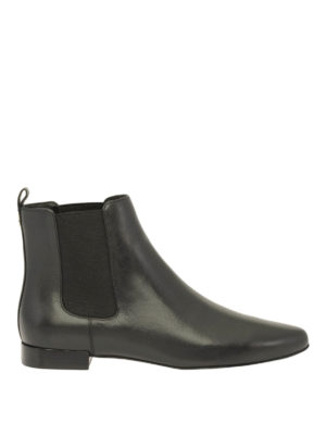 Tory Burch: ankle boots - Smooth leather Orsay ankle-boots