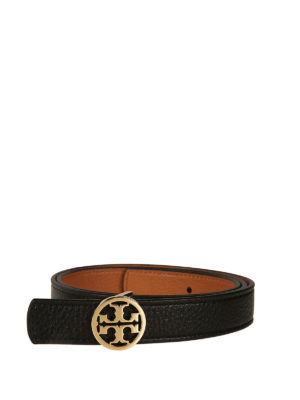 Tory Burch: belts - 1 reversible leather logo belt