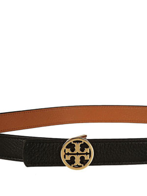 Tory Burch: belts online - 1 reversible leather logo belt