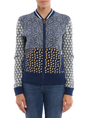 Tory Burch: bombers online - Leah knitted cotton bomber jacket