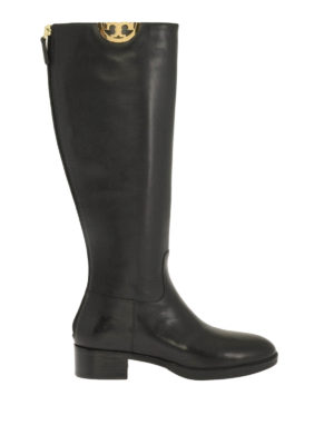 Tory Burch: boots - Monogram detail Sidney boots