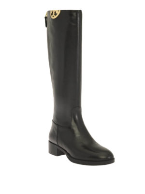 Tory Burch: boots online - Monogram detail Sidney boots