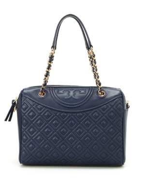 Tory Burch: bowling bags - Fleming quilted leather bowling bag