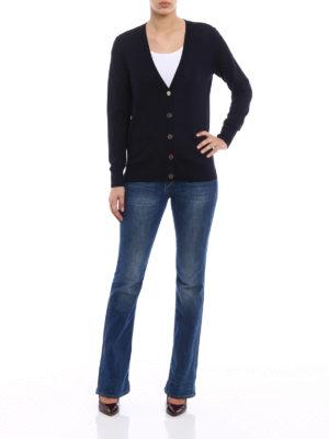 Tory Burch: cardigans online - Madeline merino wool cardigan