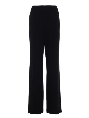 Tory Burch: casual trousers - Hailee crepe cady palazzo trousers