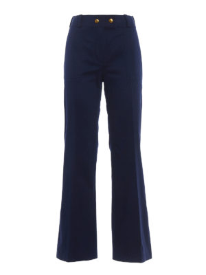 Tory Burch: casual trousers - Maddie flared trousers