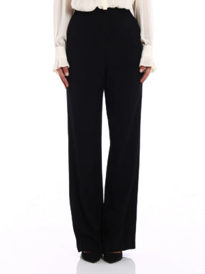 Tory Burch: casual trousers online - Hailee crepe cady palazzo trousers