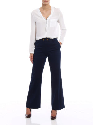 Tory Burch: casual trousers online - Maddie flared trousers