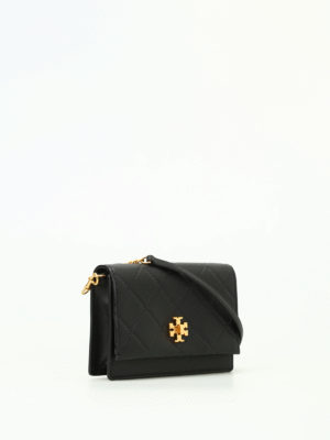 Tory Burch: clutches online - Georgia black leather clutch