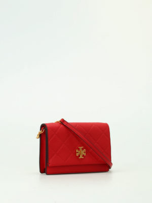 Tory Burch: clutches online - Georgia red leather clutch