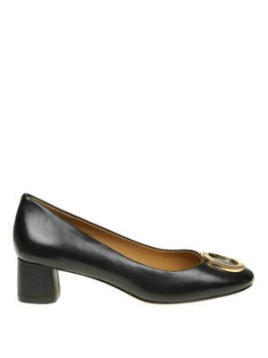 TORY BURCH: scarpe décolleté - Décolleté Caterina in pelle con logo