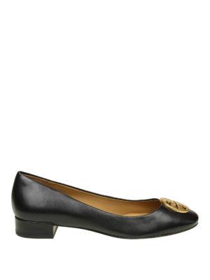 TORY BURCH: scarpe décolleté - Décolleté Chelsea in pelle con logo