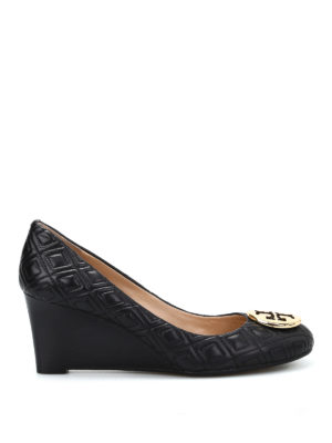 Tory Burch: court shoes - Hope quilted leather wedges