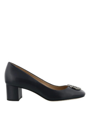 Tory Burch: court shoes - Liana blue leather pumps
