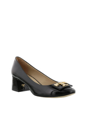 Tory Burch: court shoes online - Gigi black patent leather pumps
