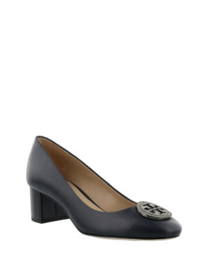 Tory Burch: court shoes online - Liana blue leather pumps
