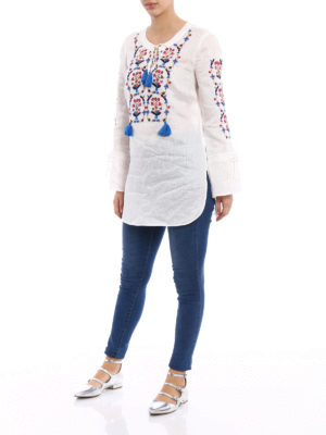Tory Burch: cover-ups online - Wildflower linen tunic