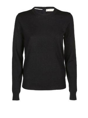 TORY BURCH: maglia collo rotondo - Girocollo Iberia in cashmere nero