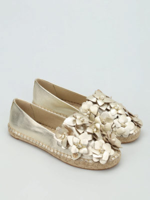 Tory Burch: espadrilles online - Blossom leather espadrilles