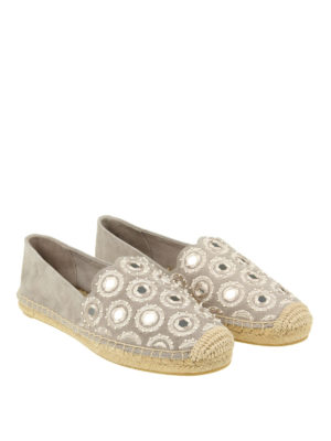 Tory Burch: espadrilles online - Yasmin decorated suede espadrilles