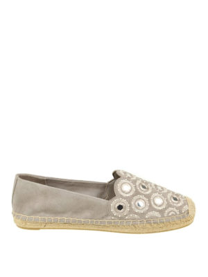 Tory Burch: espadrilles - Yasmin decorated suede espadrilles