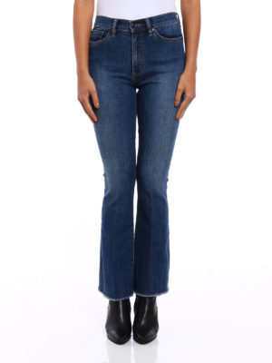 Tory Burch: flared jeans online - Ryan high waisted jeans