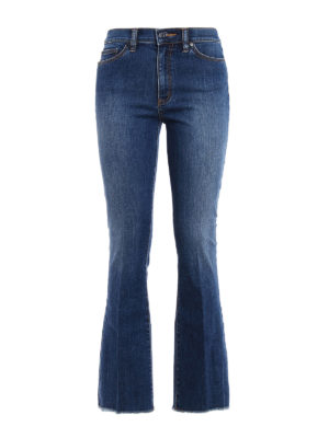 Tory Burch: flared jeans - Ryan high waisted jeans