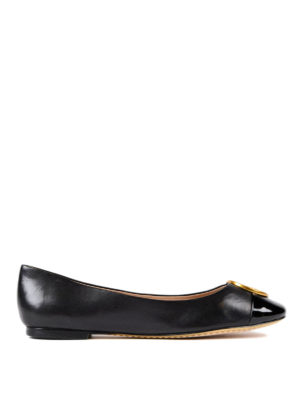 Tory Burch: flat shoes - Chelsea leather flats