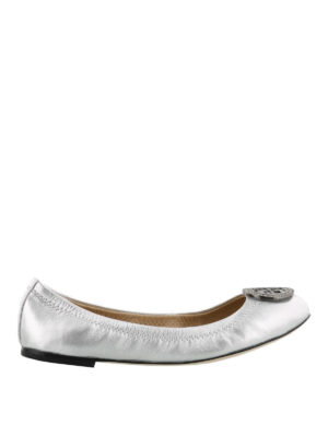 Tory Burch: flat shoes - Liana silver flat shoes