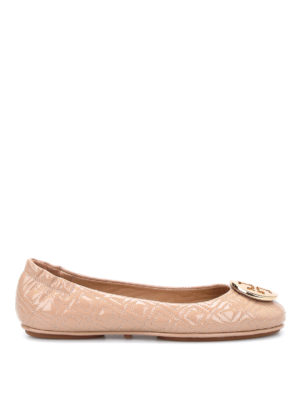 Tory Burch: flat shoes - Marion super soft patent flat shoes