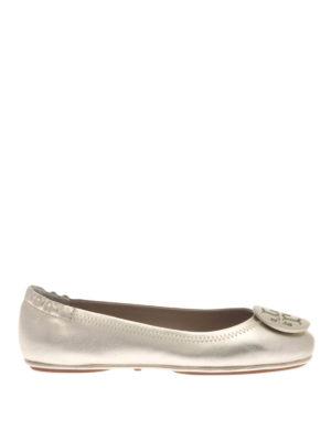 Tory Burch: flat shoes - Minnie folding metallic flats