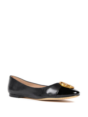 Tory Burch: flat shoes online - Chelsea leather flats