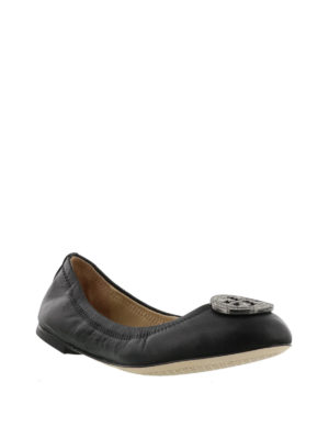 Tory Burch: flat shoes online - Liana black leather flat shoes