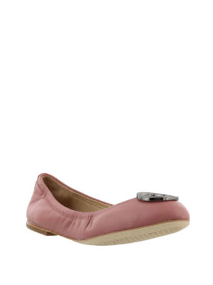 Tory Burch: flat shoes online - Liana pink leather flat shoes