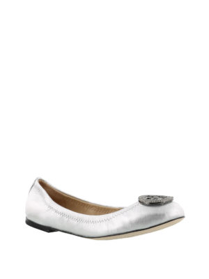 Tory Burch: flat shoes online - Liana silver flat shoes
