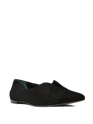 Tory Burch: flat shoes online - Lucia suede flats