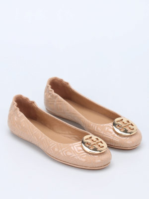 Tory Burch: flat shoes online - Marion super soft patent flat shoes