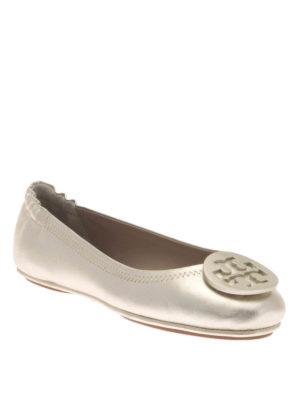 Tory Burch: flat shoes online - Minnie folding metallic flats