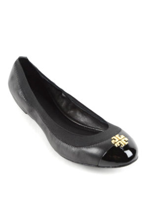 Tory Burch: flat shoes online - Patent leather toe Jolie ballerinas