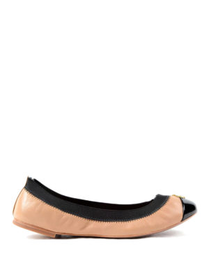 Tory Burch: flat shoes - Patent leather toe Jolie ballerinas