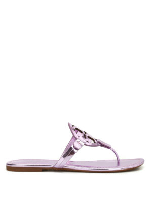 Tory Burch: flip flops - Miller patent leather flip flop