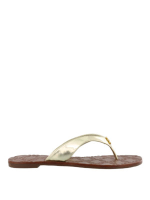 Tory Burch: flip flops - Monroe golden thong sandals